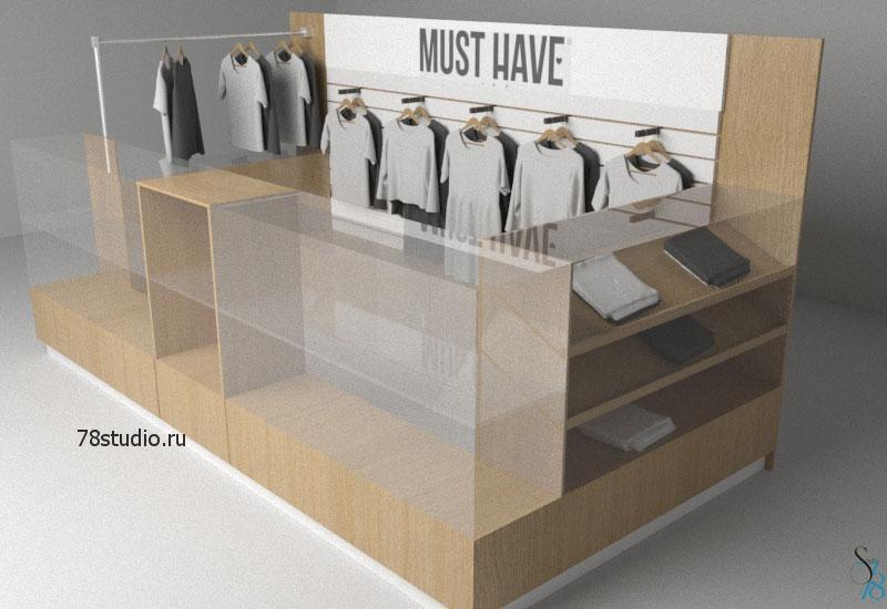 Торговый островок одежды