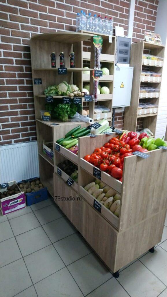 Торговый павильон овощей, фруктов и орехов